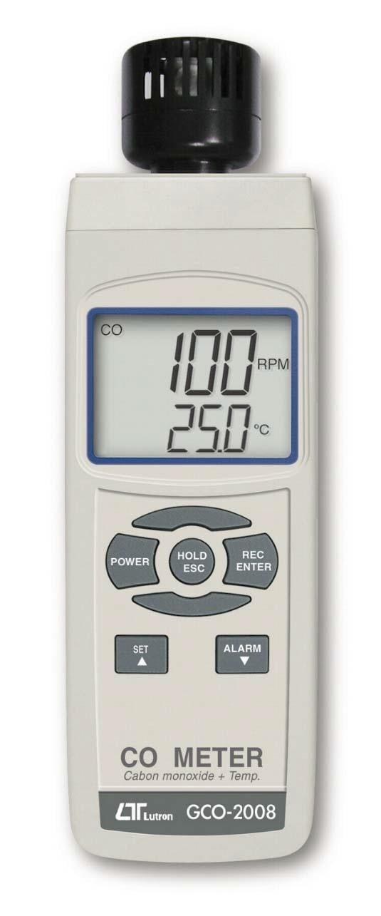Lutron GCO-2008 Carbon Monoxide Meter, buy Lutron carbon monoxide meter, co meter, carbon monoxide meter