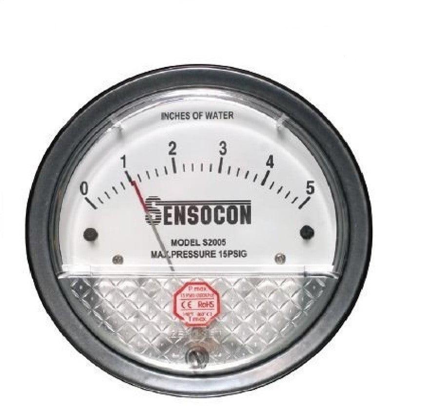 Differential Pressure Gauge, Negative Pressure Indicator, DP Gauge