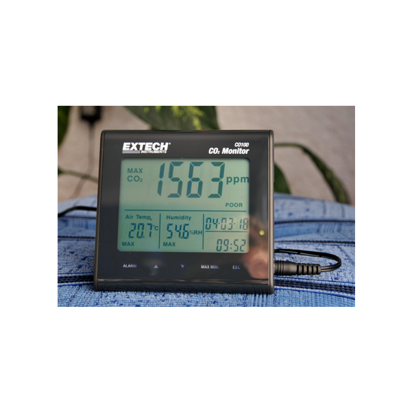 Extech CO100 Desktop Indoor Air Quality Monitor