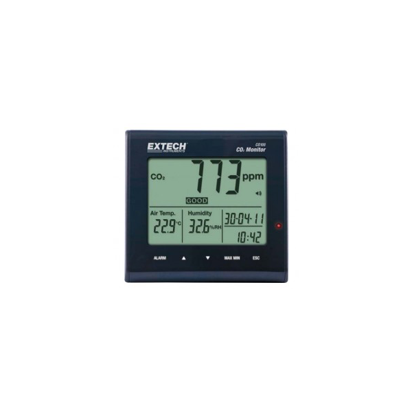 Extech CO100 Desktop Indoor Air Quality Monitor, IAQ Monitor