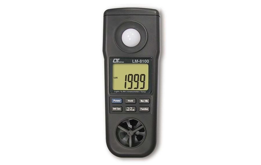 Lutron LM-8100 4 in 1 Digital Anemometer, Portable Anemometer