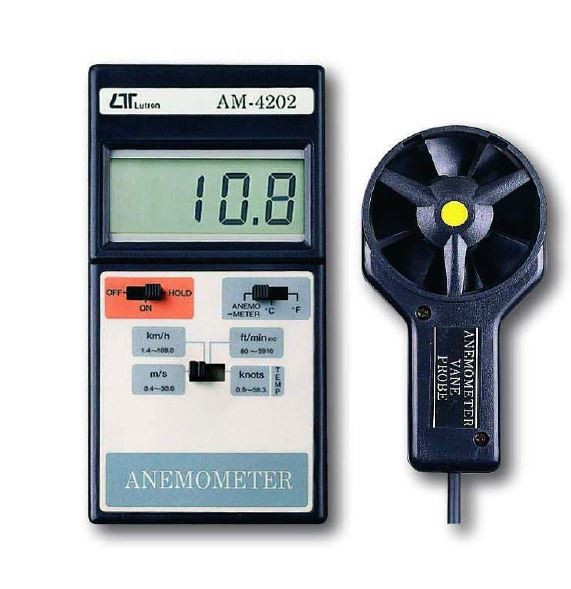 Lutron Digital Anemometer,AM 4202 Digital AnemometerDigital Anemometer,Portable Anemometer,Wind Meter,Wind Velocity Meter