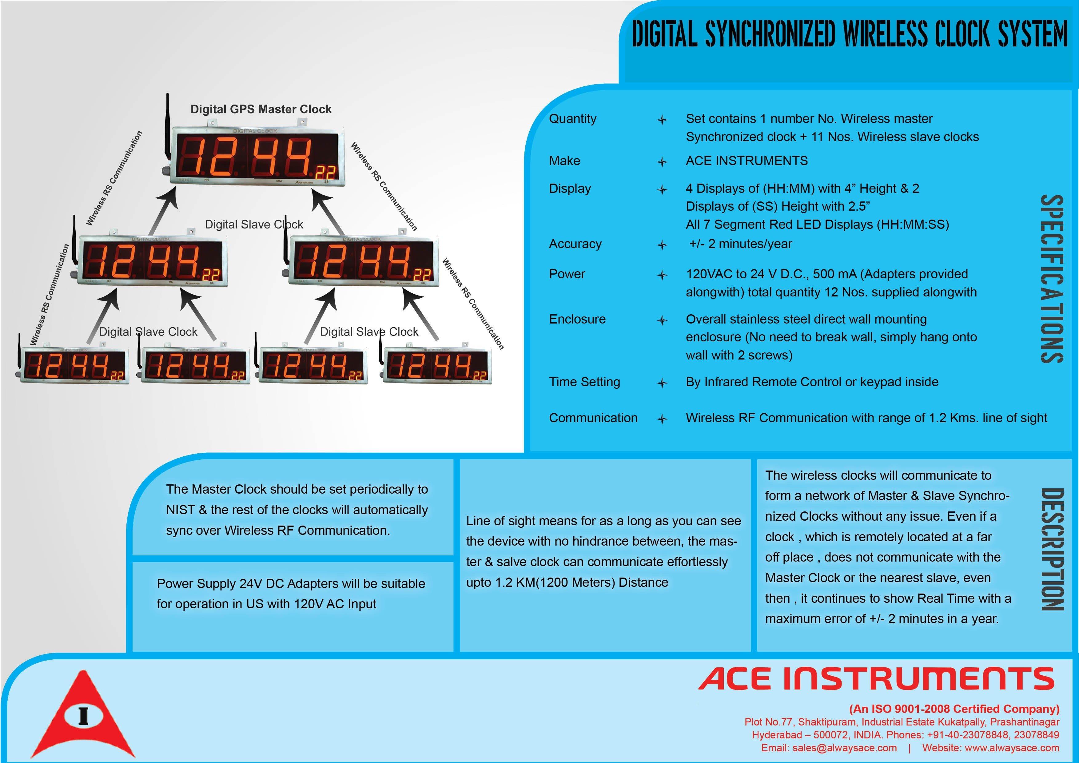 Wireless clock,Digital Synchronized Wireless Clock System,Wireless Clock System