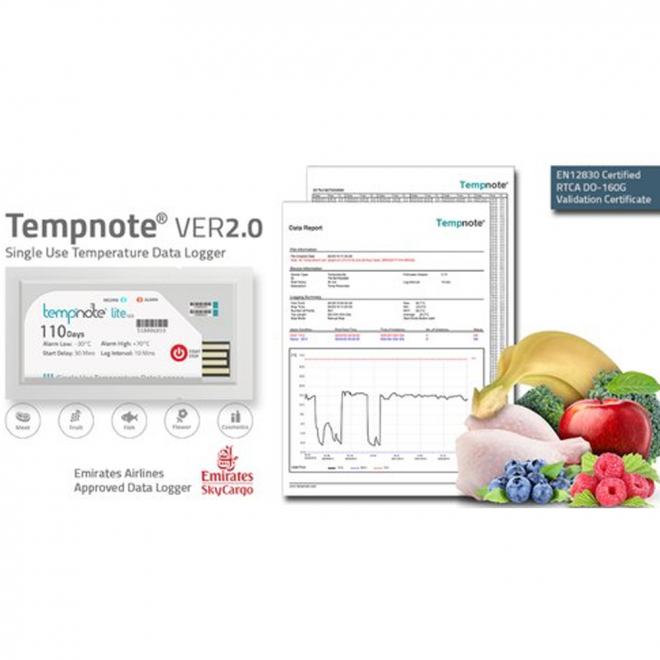 Tempnote Lite V2.0 temperature data logger