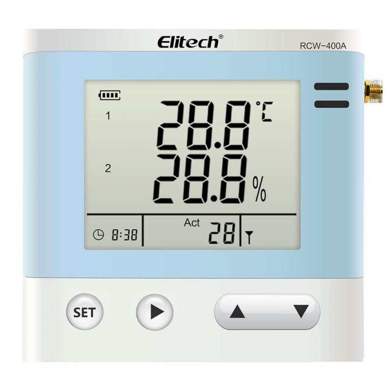 Elitech RCW-400A Wireless Temperature and Humidity Data Logger Remote Monitor