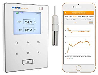 Elitech RCW-800 wifi Temperature and Humidity Data Logger Wireless Remote Monitor