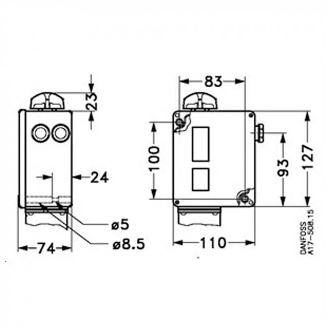 Danfoss RT-117 Pressure switch (1)