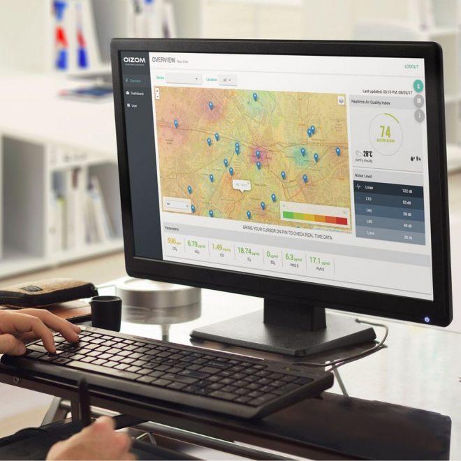 Environmental-Data-Terminal-Automatic-Weather-Station-Oizom-Weathercom-Smart