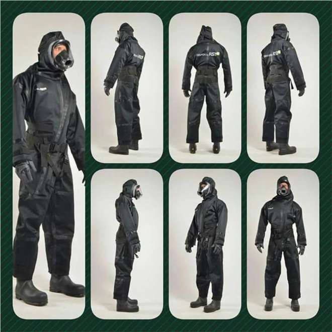 Demron anti radiation coat collage